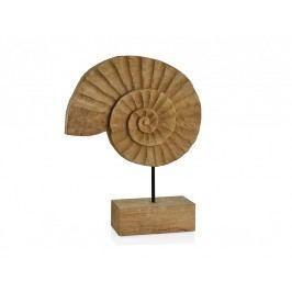 Socha, FOSÍLIE, dřevo, přírodní, 30x7,5x38cm - (AX17085)