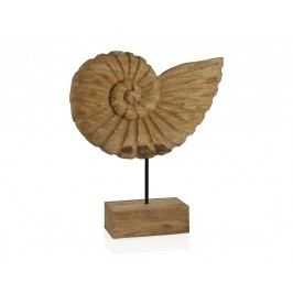 Socha, FOSÍLIE, dřevo, přírodní, 36x7,5x40cm - (AX17086)
