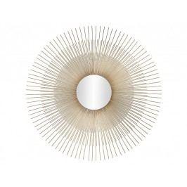 Zrcadlo, tvar slunce, zlaté, O76x1cm - (AX17088)
