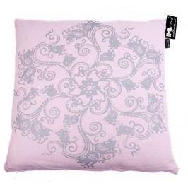 In the MOOD - Polštář BAROK, růžový s šedým potiskem, vč. výplně, 50x50cm - (462-230-62)