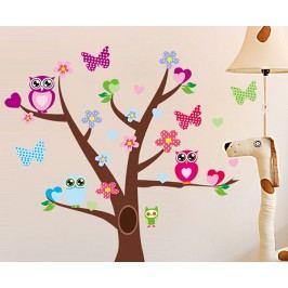 Ambiance Dekorační samolepky - sovy a strom