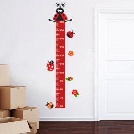Housedecor Samolepka na zeď - metr s beruškami