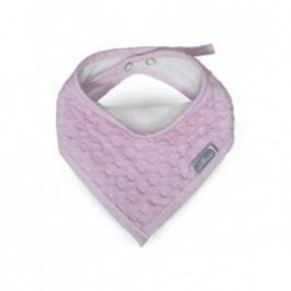 Jollein Bryndák - Slab bandana waffle, pink, 15x21cm
