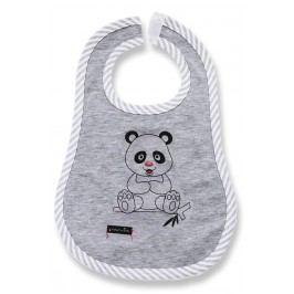 Lafel Dětský bryndák Panda - šedý