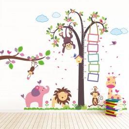Walplus Samolepky na zeď Metr strom s opičkou/Zvířátka/Opička na větvi, 195x160 cm