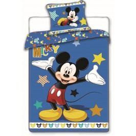 Jerry Fabrics Dětské oboustranné povlečení Mickey Mouse, 140x200 cm/70x90 cm - modré