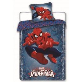 Jerry Fabrics Dětské oboustranné povlečení Spiderman, 140x200 cm/70x90 cm - modré