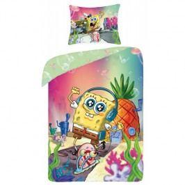 Halantex Dětské oboustranné povlečení SpongeBob Squarepants, 140x200 cm - barevné