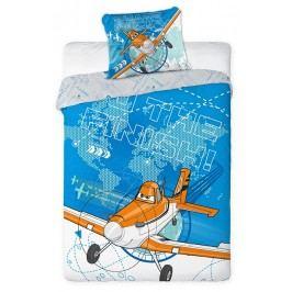Faro Dětské oboustranné povlečení Letadla, 160x200 cm - modré