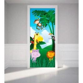 MaDéco Samolepka na dveře Zvířátka z džungle