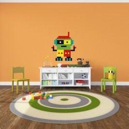 Puzzlove Dekorativní samolepící puzzle Robot