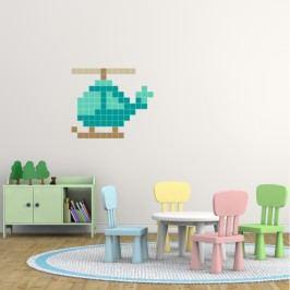 Puzzlove Dekorativní samolepící puzzle Malá helikoptéra