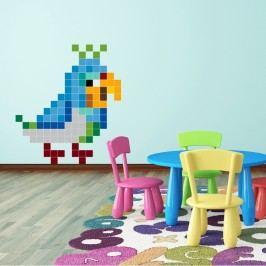 Puzzlove Dekorativní samolepící puzzle Papoušek