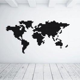 Puzzlove Dekorativní samolepící puzzle Mapa světa