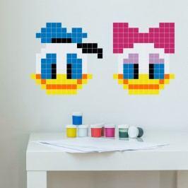 Puzzlove Dekorativní samolepící puzzle Donald a Daisy