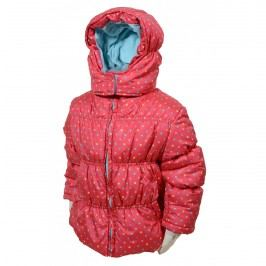 Bugga Dívčí puntíkovaná bunda Puffy - růžová