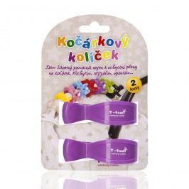 T-tomi Kočárkový kolíček, 2ks, fialová