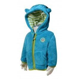 Bugga Chlapecká fleecová mikina s kapucí - modrá