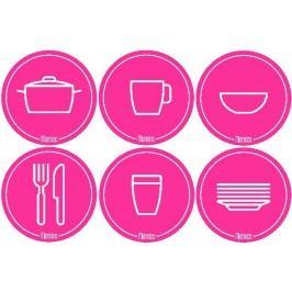 Mamiee Samolepky do kuchyně růžové - set 6 kusů
