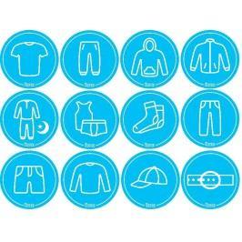 Mamiee Samolepky pro kluky modré - set 12 kusů