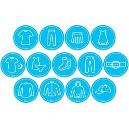 Mamiee Samolepky pro holky modré - set 13 kusů