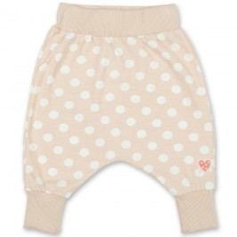 Pinokio Dívčí puntíkované kalhoty/tepláčky - béžové