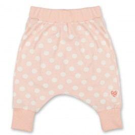 Pinokio Dívčí puntíkované kalhoty/tepláčky - světle růžové