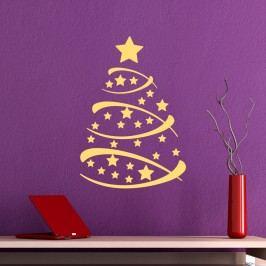 Ambiance Dekorační samolepky-zlatý stromeček