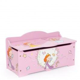 Homestyle4U Dětská truhla na hračky Princezny