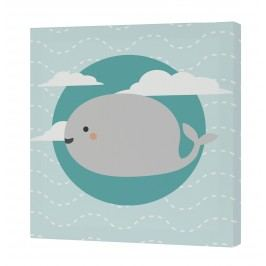 Happynois Nástěnný obraz Pirata - velryba, 27x27 cm