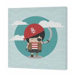 Happynois Nástěnný obraz Pirata - pirát, 27x27 cm
