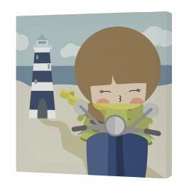 Happynois Nástěnný obraz Summer Time - dívka, 27x27 cm