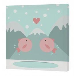 Happynois Nástěnný obraz Skymo Day - rybičky, 27x27 cm
