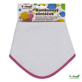 T-tomi Bambusový slintáček, bílý s růžovým okrajem