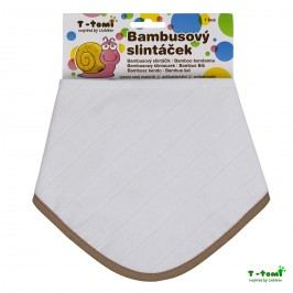T-tomi Bambusový slintáček, bílý s béžovým okrajem