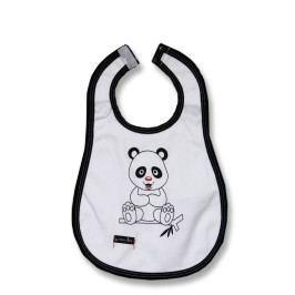 Lafel Dětský bryndák Panda - béžovo-černý