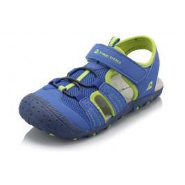 ALPINE PRO Chlapecké sandály Pankaja - zeleno-modré