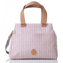 PacaPod RICHMOND růžová rybí kost - kabelka i přebalovací taška