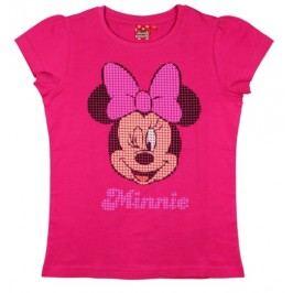E plus M Dívčí tričko Minnie - růžové