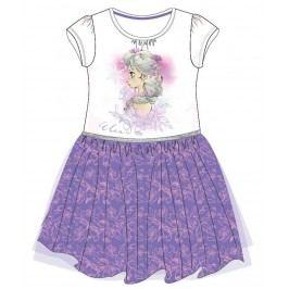 E plus M Dívčí šaty Frozen - bílo-fialové