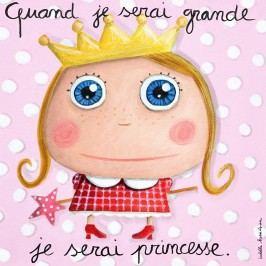 Label Tour Obrázek na plátně Princezna, 15x15 cm - růžový