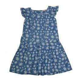 Topo Dívčí květované šaty - modré
