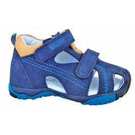 Protetika Chlapecké kožené sandály Laris Tyrkys - modré