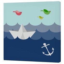 Baleno Nástěnný obraz Whale Ride - moře, 27x27 cm