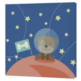 Happynois Nástěnný obraz Astronaut - pes Astronaut, 27x27 cm