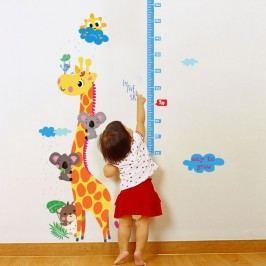 Fanastick Nástěnná samolepka s metrem Žirafa a koala