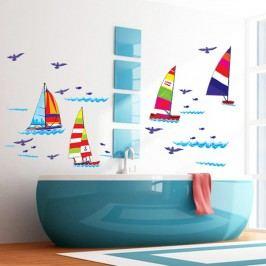 Walplus Samolepka na zeď Barevné lodičky, 125 x 72 cm