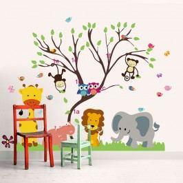 Walplus Samolepka na zeď Opičí strom, 150x120 cm