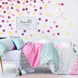 Housedecor Samolepky na zeď Konfety - svěží růžová