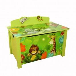 Homestyle4U Dětská truhla na hračky Jungle